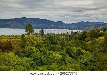 A beautiful view of Lake toba, medan, Indonesia