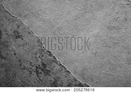 Natural gray slate surface for background photographed with natural light