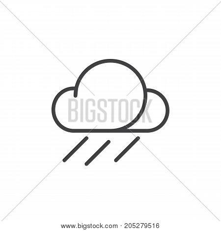 Rainfall line icon, outline vector sign, linear style pictogram isolated on white. Symbol, logo illustration. Editable stroke