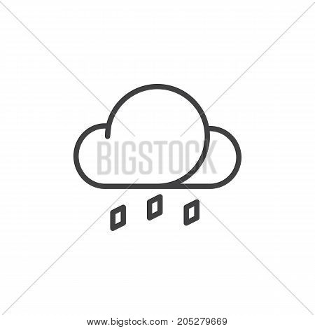 Hail line icon, outline vector sign, linear style pictogram isolated on white. Symbol, logo illustration. Editable stroke