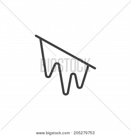 Icy line icon, outline vector sign, linear style pictogram isolated on white. Symbol, logo illustration. Editable stroke