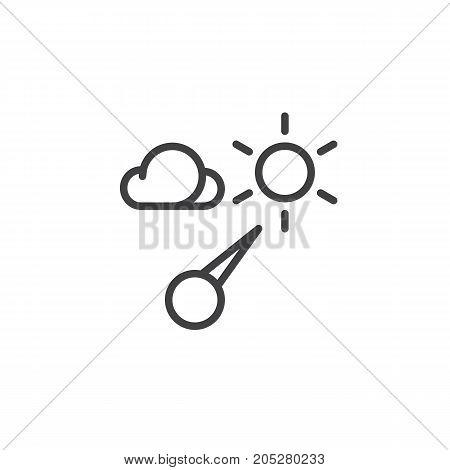 Barometer line icon, outline vector sign, linear style pictogram isolated on white. Symbol, logo illustration. Editable stroke