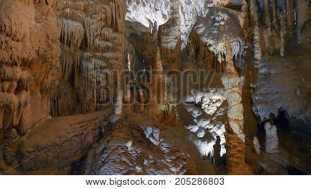 karst cave system of the Postojna in Slovenia