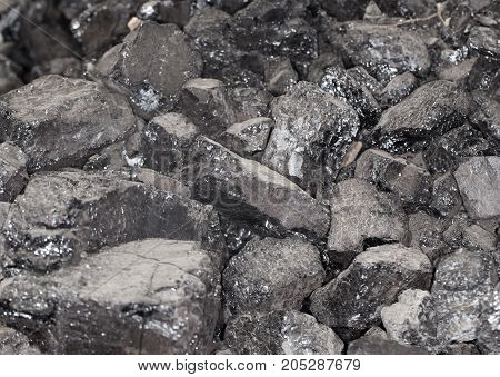 coal as a background . Photo as an abstract background