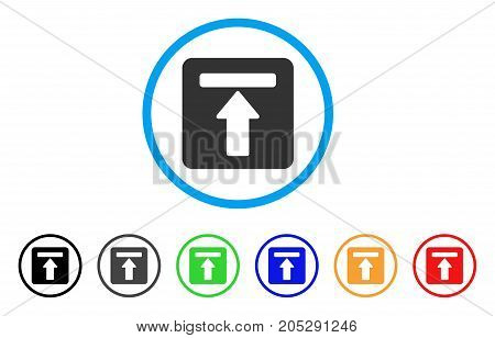 Expand Menu rounded icon. Style is a flat expand menu grey symbol inside light blue circle with black, gray, green, blue, red, orange color versions. Vector designed for web and software interfaces.