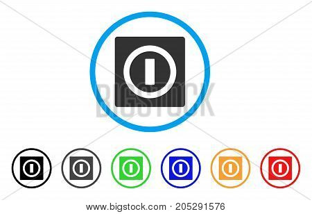 Switch rounded icon. Style is a flat switch gray symbol inside light blue circle with black, gray, green, blue, red, orange variants. Vector designed for web and software interfaces.