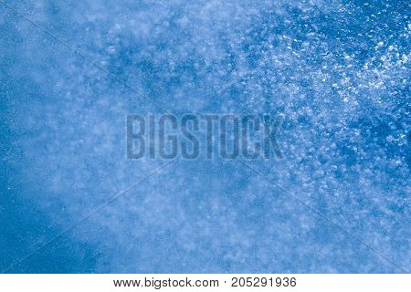 Texture Of The Ice Surface. Winter Background