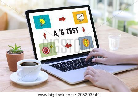 A/b Test Start And  A-b Comparison. Split Testing