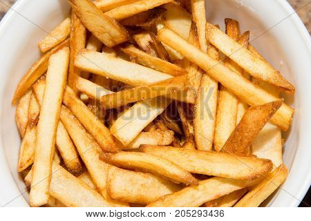 French fries . Delicious food in the kitchen