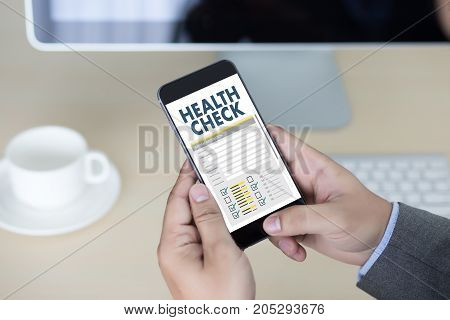 Digital Health Check Concept Working With Computer Interface As Medical Healthcare