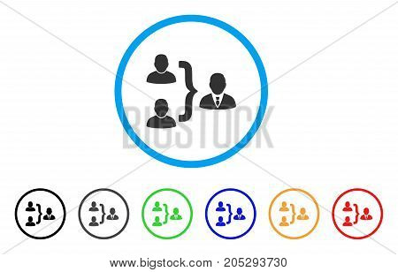 User Union rounded icon. Style is a flat user union gray symbol inside light blue circle with black, gray, green, blue, red, orange versions. Vector designed for web and software interfaces.