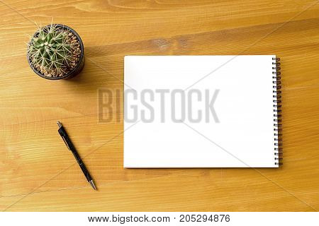 Blank Catalog And Book , Magazines,book Mock Up On Wood Background