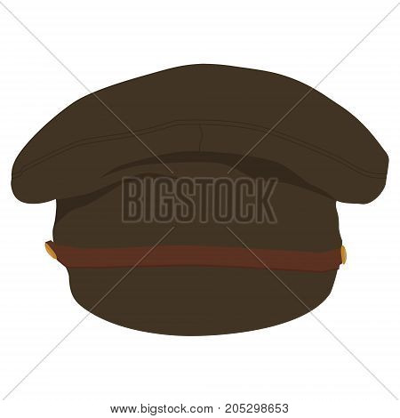 Vector illustration military or army hat cap with visor template design.