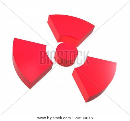 Sign of radiation isolated on a white background poster