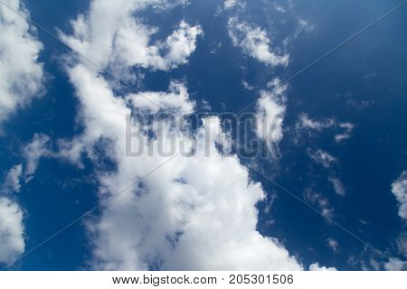 beautiful sky background with clouds . In a park in the nature