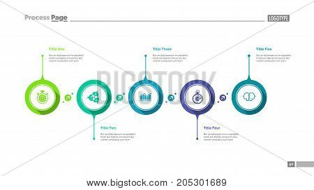 Workflow visualization slide template. Business data. Graph, diagram. Creative concept for infographic, templates, presentation, report. Can be used for topics like workflow, analytics, teamwork