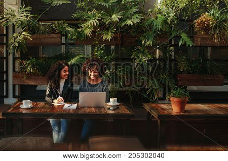 Women Discussing Ideas Over Coffee