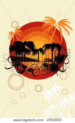 Summer  Background. Vector Illustration