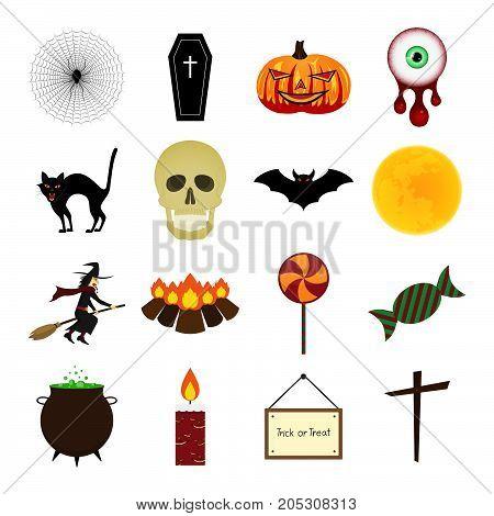 Halloween Color Icon Set