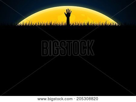 Halloween Zombie Hand Graveyard Grass
