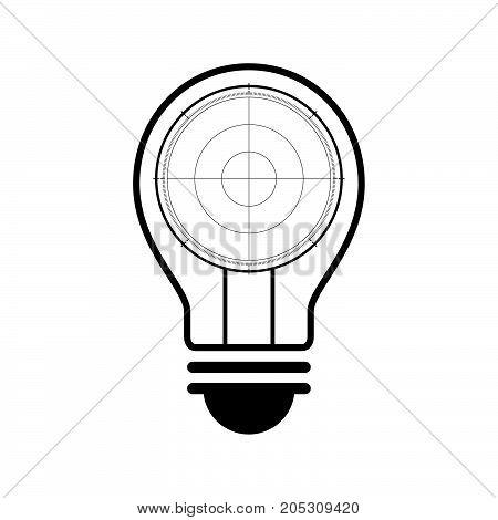 Technology Future Radar Screen Light Bulb