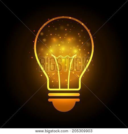 Technology Future Light Bulb Bokeh