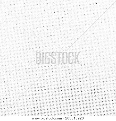 Subtle halftone vector texture overlay. Monochrome abstract splattered background.