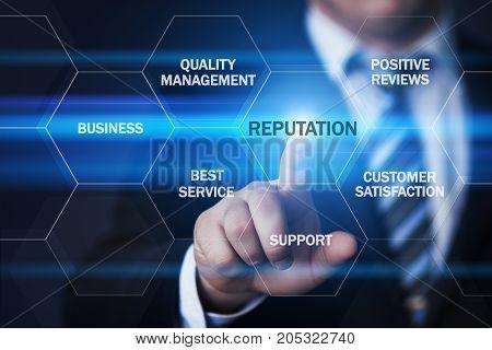 Reputation Trsut Brand Public Relations Internet Business Technology Concept.