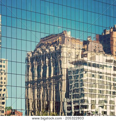 New York City Buildings Reflection