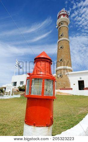 Cabo Polonio, Uruguay - 14 February 2015: The lighthouse at Cabo Polonio on Uruguay