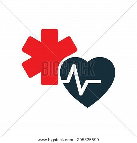 Heart Pulse Medical Star Life Icon
