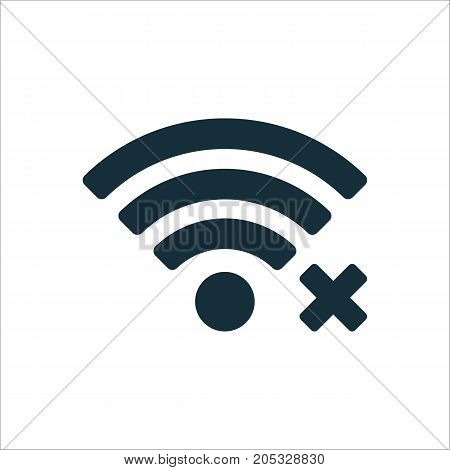 Wi-fi Lost Connection Icon On White Background