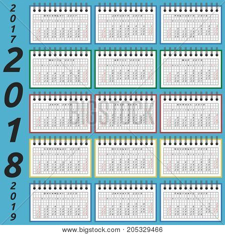 Notepad Calendar, 2018 Year