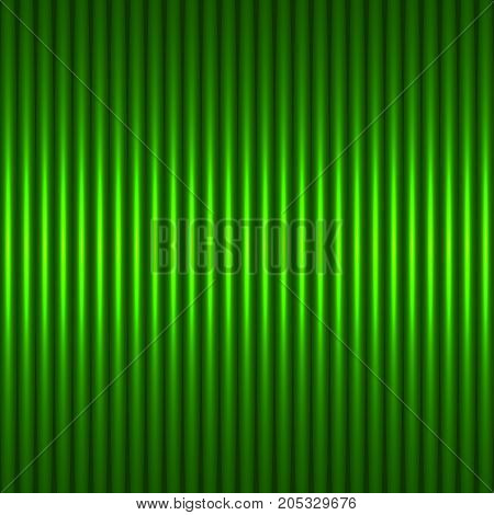 Green abstract background with strips. The idea for the business card