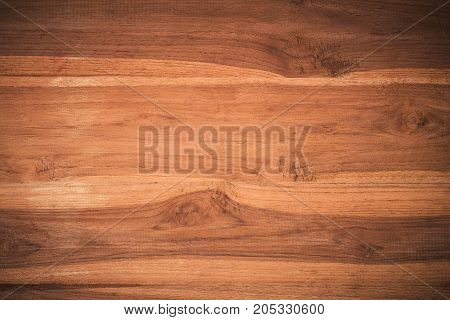 Old grunge textured wooden background The surface of the old brown teak wood texture