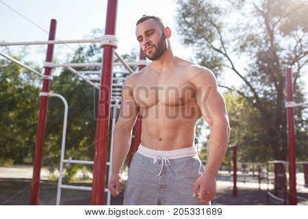 Fitness, sports, training, and lifestyle - a young man is engaged in the urban area.
