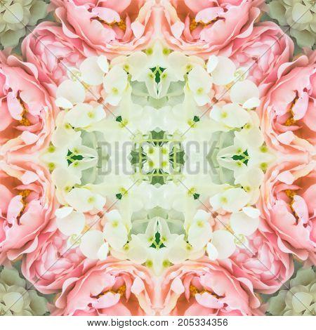 mandala kaleidoscope seamless pattern for create beautiful background