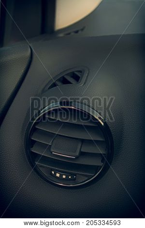 Details of air conditioning (car ventilation system) in modern car