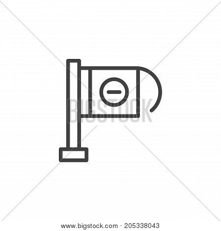 Wrong way pointer line icon, outline vector sign, linear style pictogram isolated on white. Symbol, logo illustration. Editable stroke