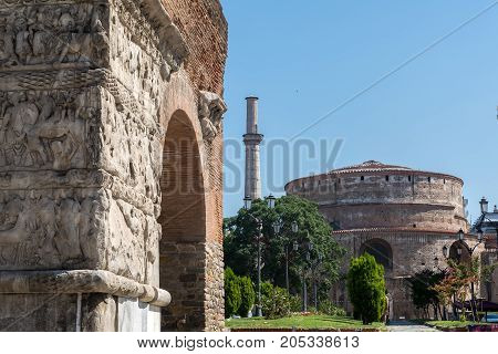 Arch Of Galerius And Rotunda In Thessaloniki - Grecee