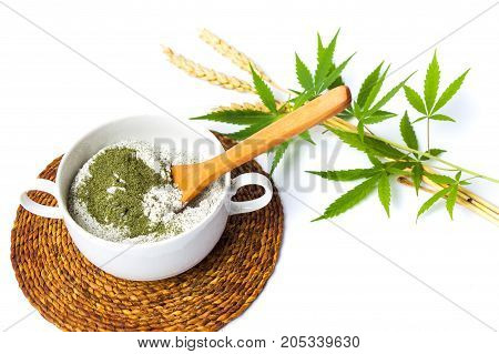 Marijuana And Wheat Mixed Flour For Making Pastry