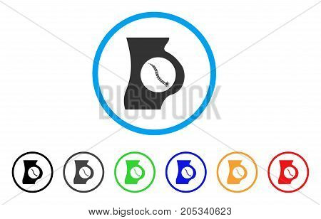 Intestinal Parasite rounded icon. Style is a flat intestinal parasite grey symbol inside light blue circle with black, gray, green, blue, red, orange variants.