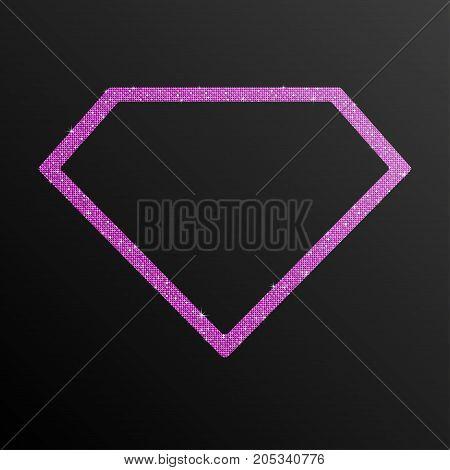 Frame Pink Purple Sequin Diamond. Silver Mosaic Sequins Glitter Sparkle Stars. Hope Diamond.