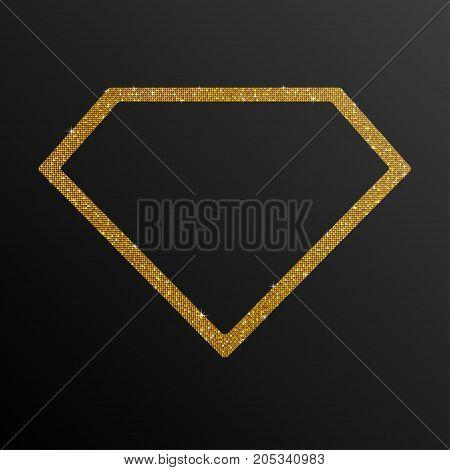 Frame Gold Golden Sequin Diamond. Silver Mosaic Sequins Glitter Sparkle Stars. Hope Diamond.