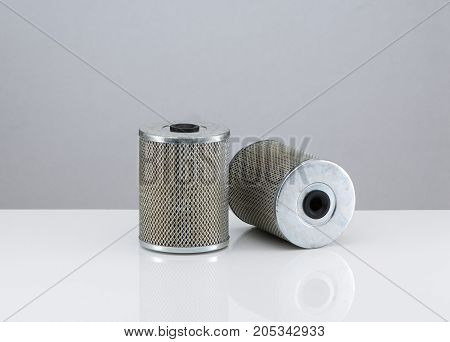 Automobile Filter On A White Background