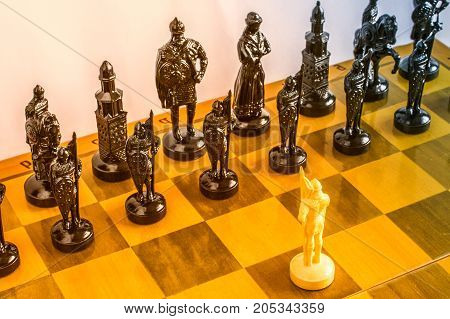Chess On The Board.