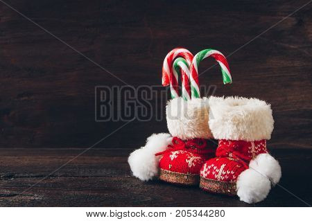 Christmas Boots With Candy
