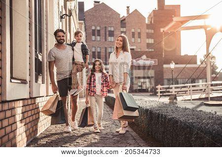 Family Doing Shopping