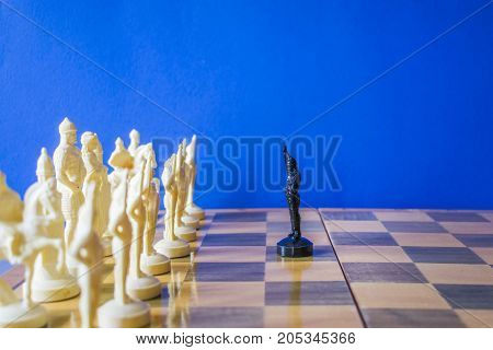 Chess On Black Background.