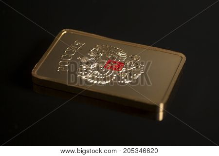 Gold Bullion With Emblem Of Russia